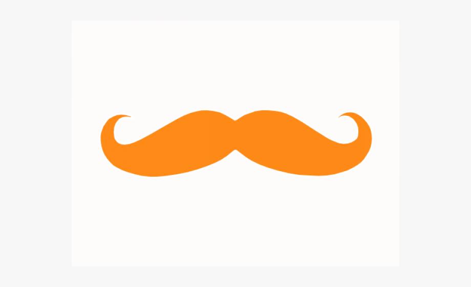 Orange . Moustache clipart small mustache