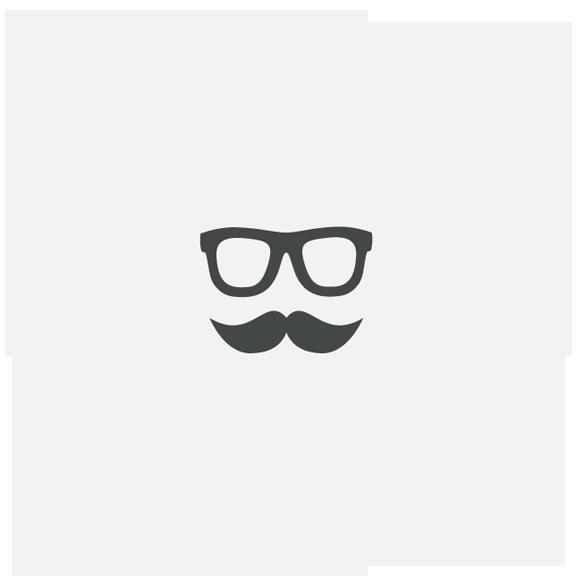 Spot design branding. Moustache clipart square glass