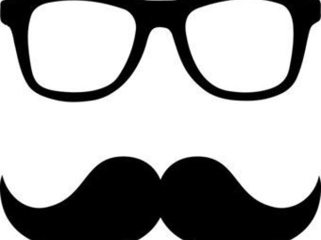 Free man download clip. Moustache clipart square glass