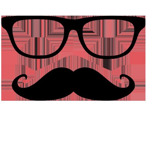 Transparent png free . Moustache clipart square glass