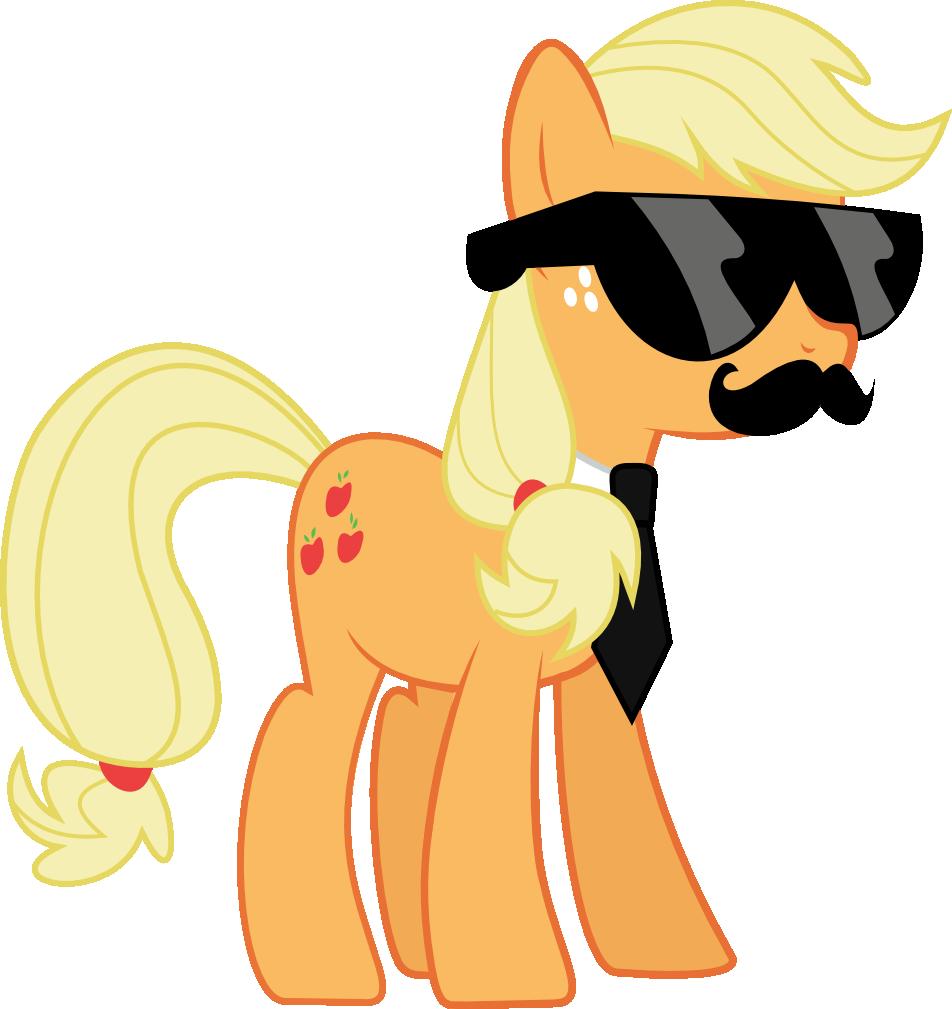 Moustache clipart sunglasses.  applejack artist l