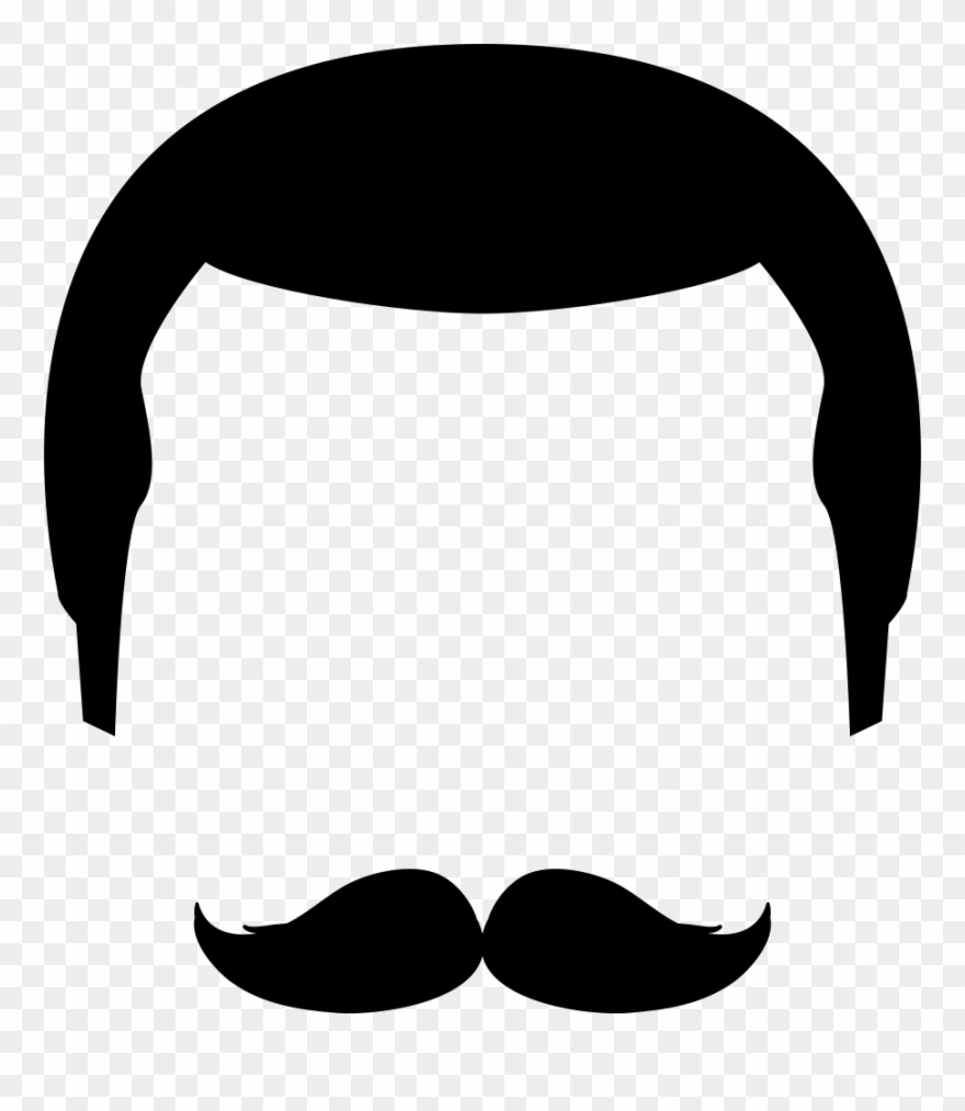 Icon png transparent . Moustache clipart svg