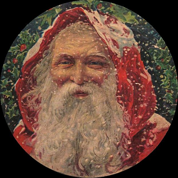 Amazing victorian graphic santa. Moustache clipart vintage