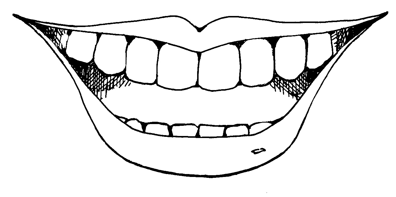 Mouth clipart. Smile black and white