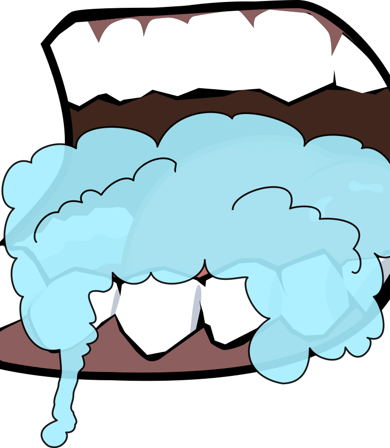 Mouth clipart brush. Foaming medium image png
