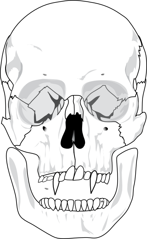 Mouth clipart evil. Skull i royalty free