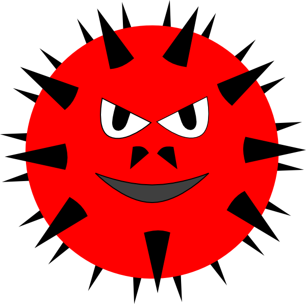 Virus clip art at. Phone clipart evil