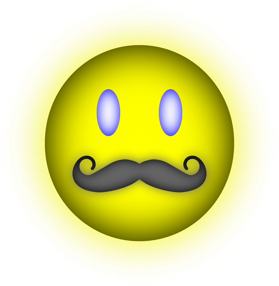 Happy face big image. Mouth clipart mustache