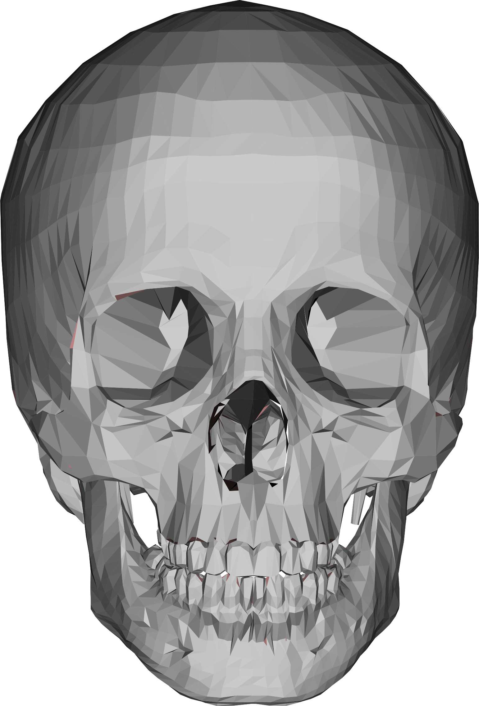 Mouth clipart skull. D low poly big