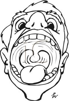 Mouth clipart wide open mouth. Picture of a silly