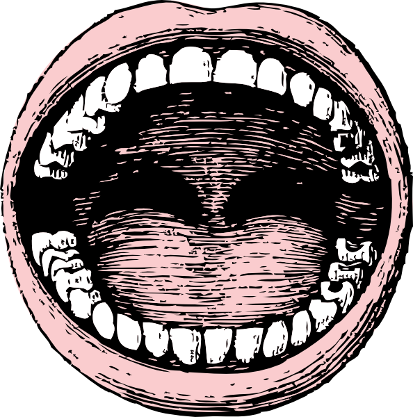 Mouth clipart wide open mouth. Clip art at clker