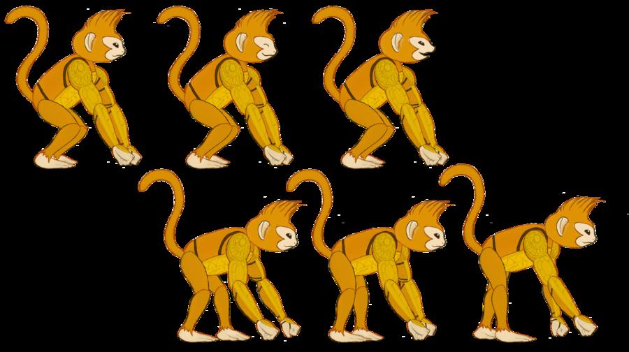 Monkey by tonalleks on. Movement clipart animal movement