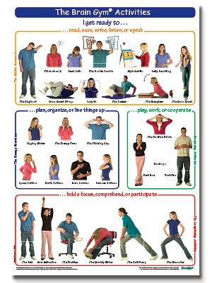 The brain activities poster. Movement clipart gym activity
