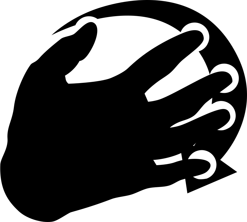 Five fingers to right. Movement clipart hand movement