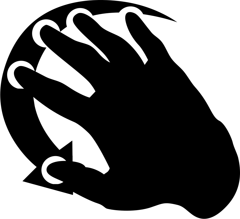 Movement clipart hand movement. Right svg png icon