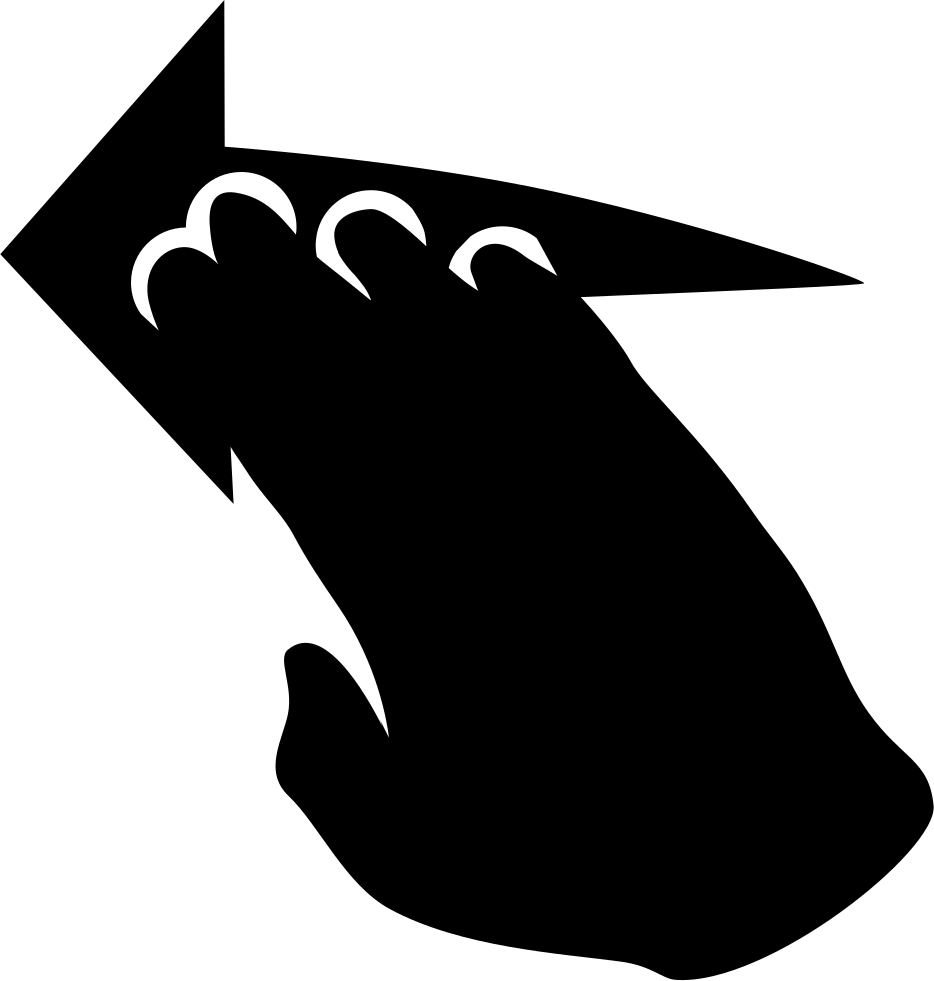 Movement clipart hand movement. To left svg png