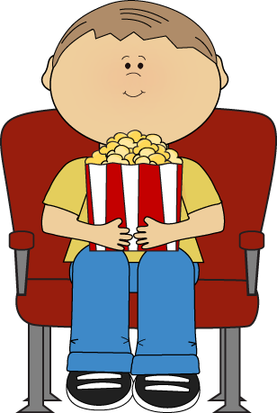 Theater boy in clip. Movie clipart