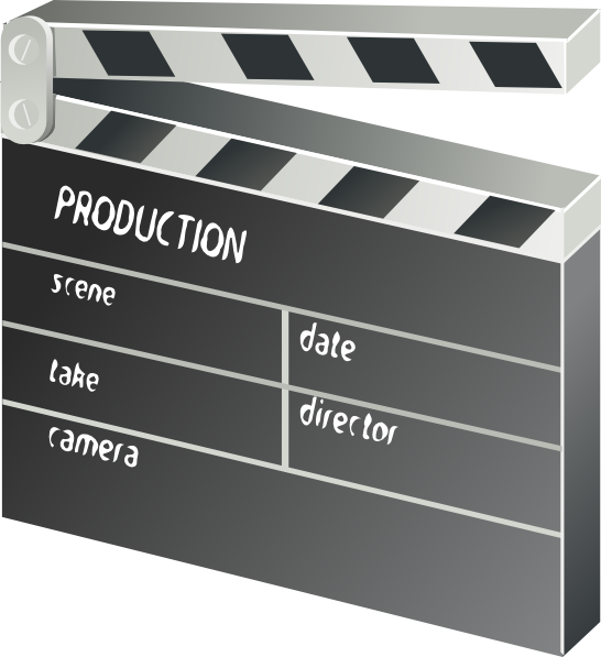 Clapper clip art at. Movie clipart board