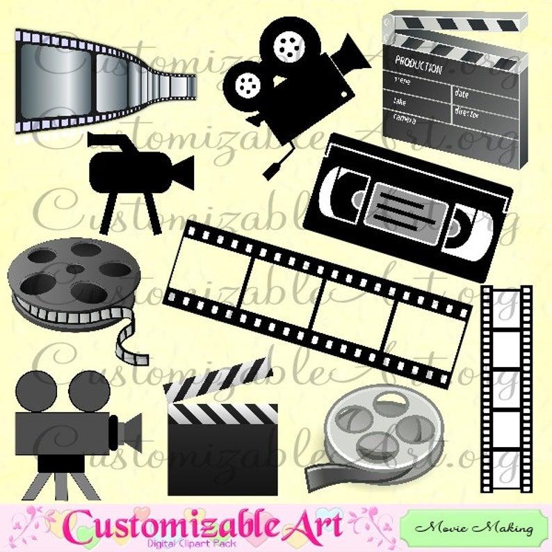 Movie clipart film production. Making digital filming reel