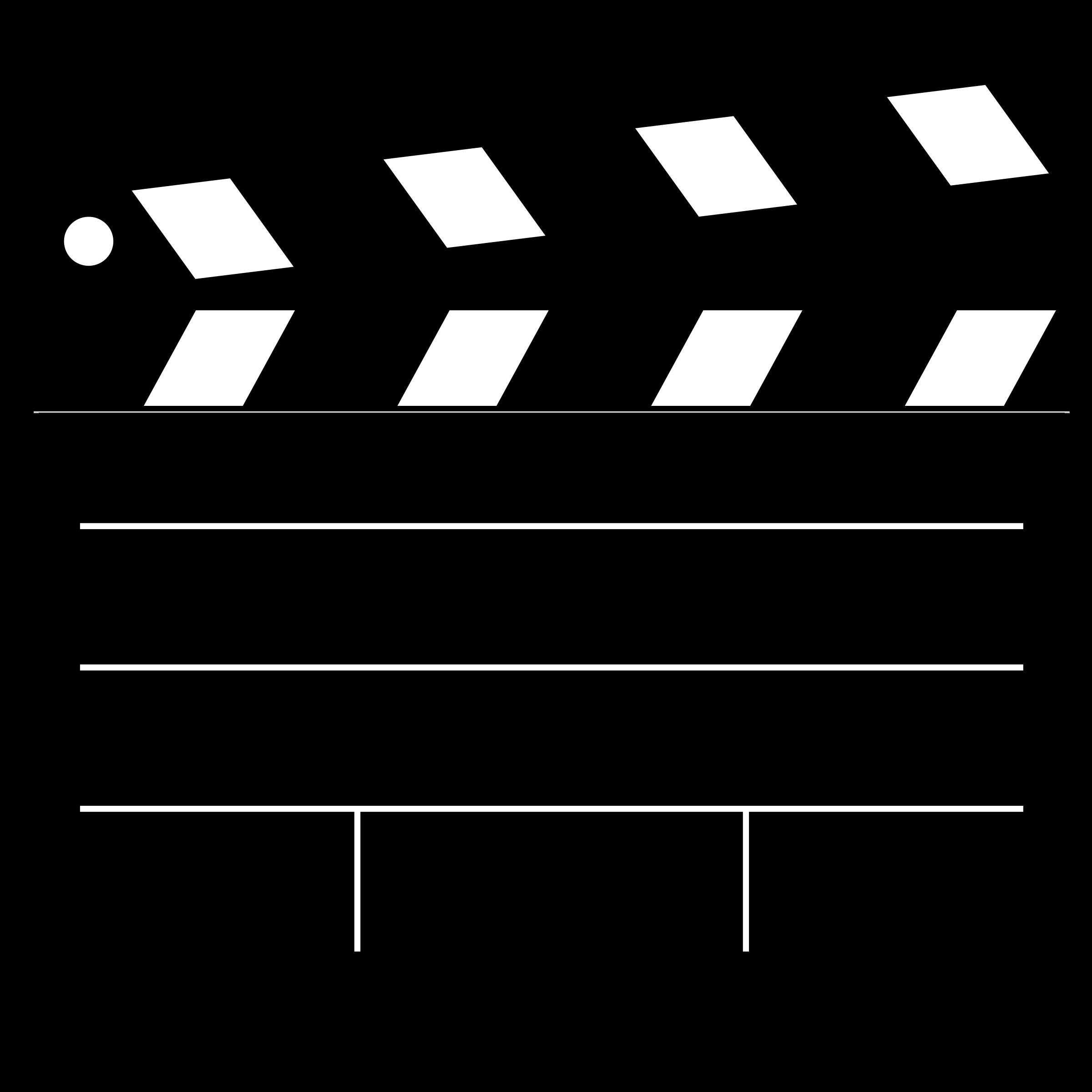 Clapper board big image. Movies clipart film slate