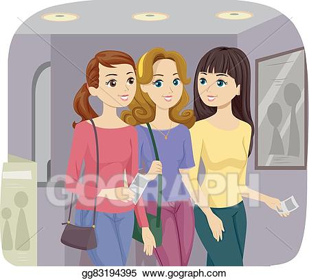 Eps vector teen girls. Movie clipart friend clipart