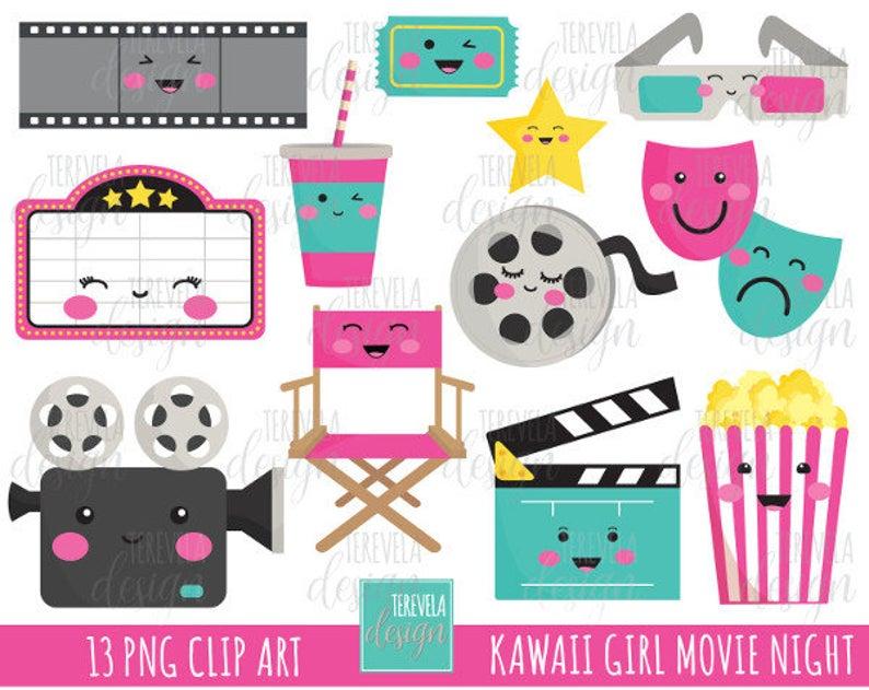 sale night girl. Movie clipart kawaii