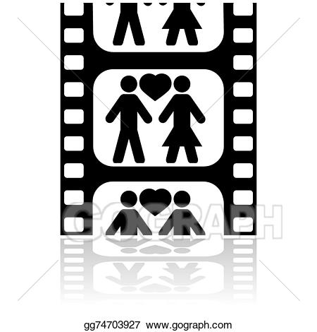 Vector illustration gg . Movie clipart movie date