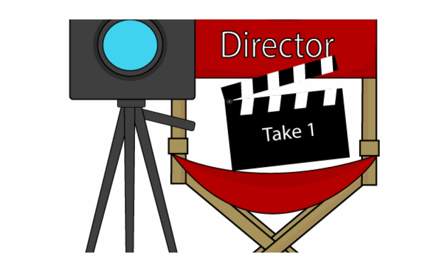 Clip art free png. Movie clipart movie director
