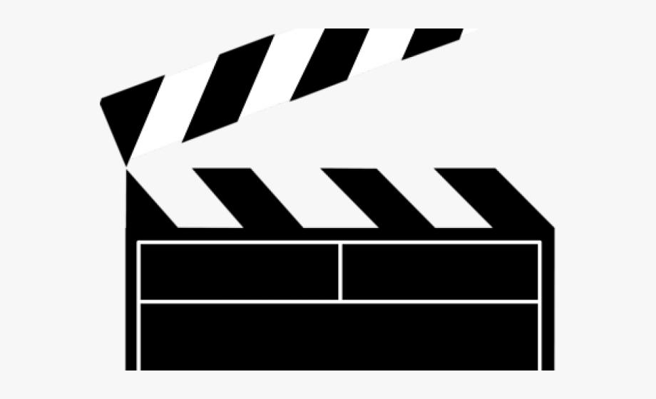 Movie clipart movie logo. Black and white