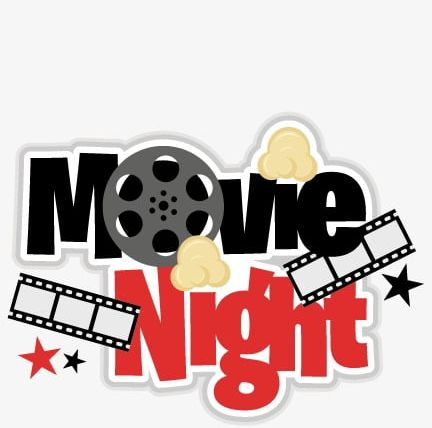 Movie clipart movie night. Png black clips film