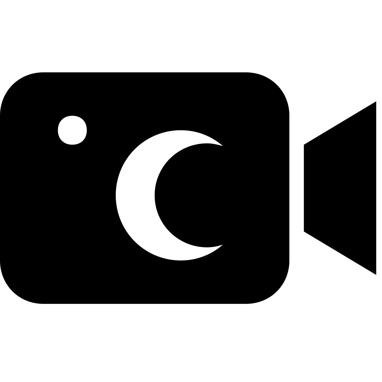 Movie camera computer icons. Vision clipart night vision