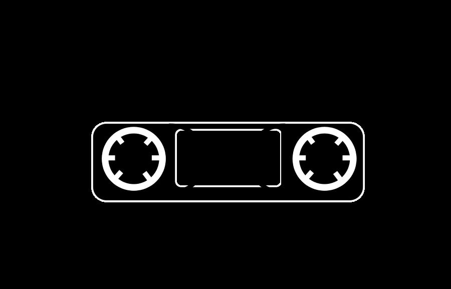 Compact cassette tape videotape. Movie clipart recorder