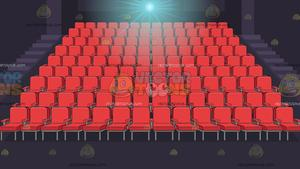 Theater seats background . Movie clipart row