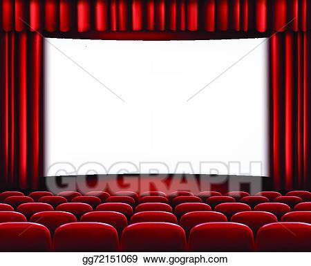 Movie clipart row. Vector art rows of