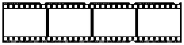 Reel border free download. Movie clipart stripe