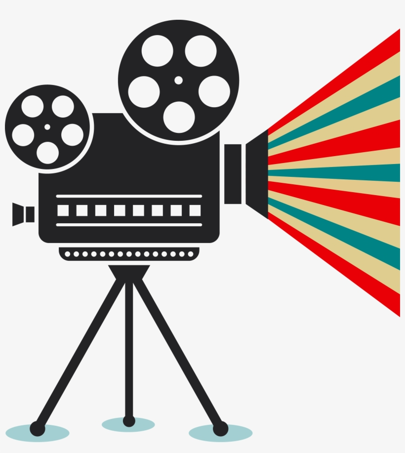 Free stock movie projector. Movies clipart vector