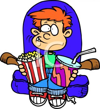 Movie clipart watch movie. Free download best