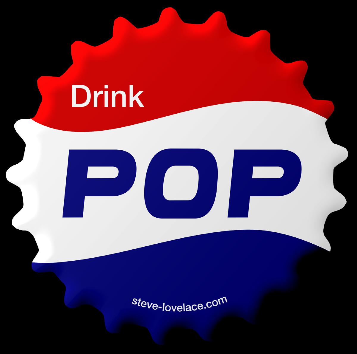 Words clipart pop. Soda vs coke steve