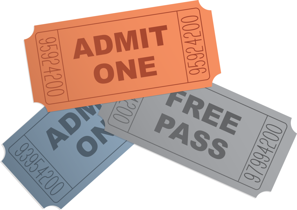 collection of transparent. Raffle clipart cinema ticket