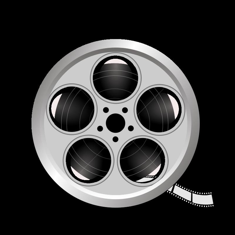 Roll film clipground clip. Movies clipart movie camera