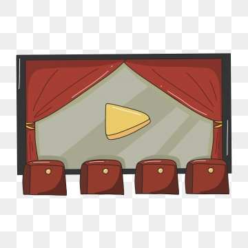 Movie theater png psd. Movies clipart vector