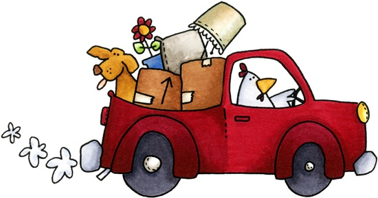 Moving clipart. Cute clip art day