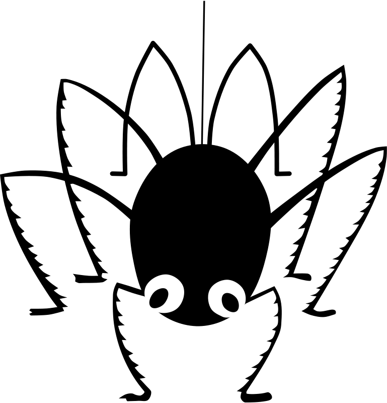 Moving clipart black and white. Animated spider