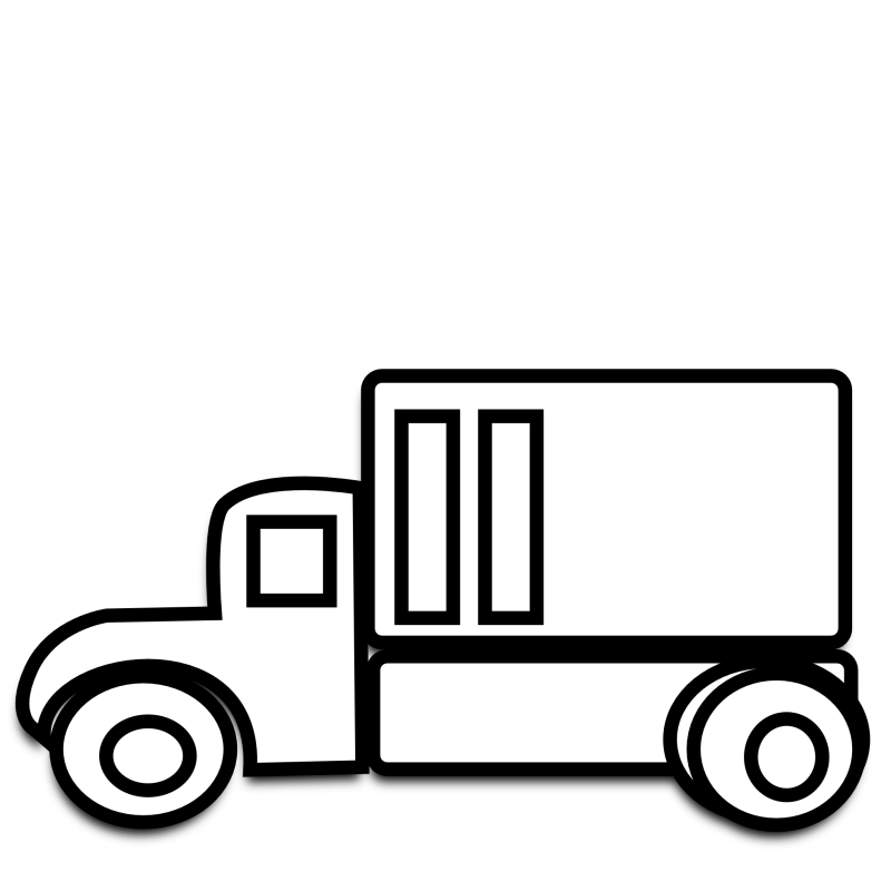 Pick up toys clip. Moving clipart black and white