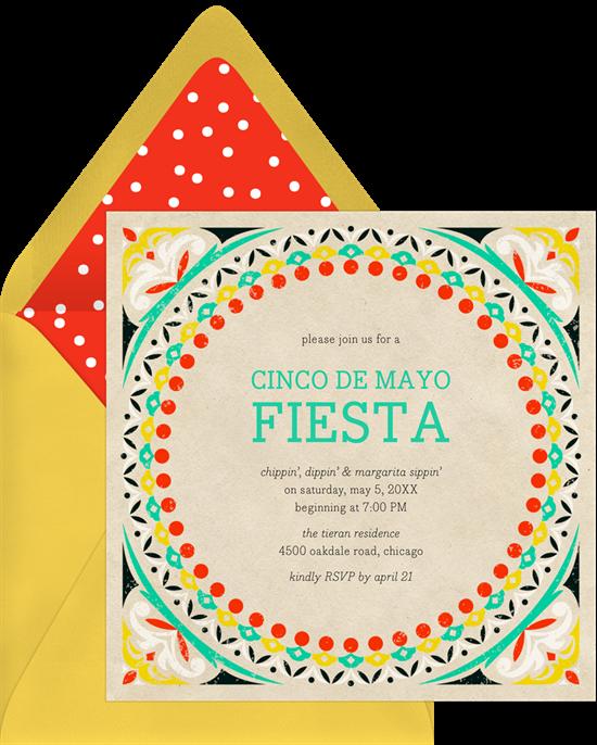 Colorful fiesta invitations in. Moving clipart cinco de mayo