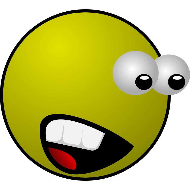 Zombie clipart face. Free cartoon scared person