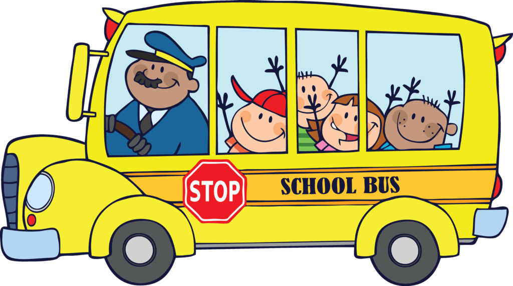 buses images free. Moving clipart school