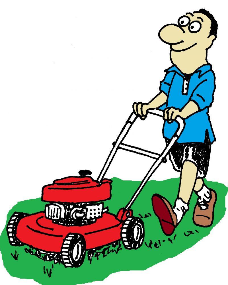 Free lawn mowing cliparts. Lawnmower clipart landscape maintenance