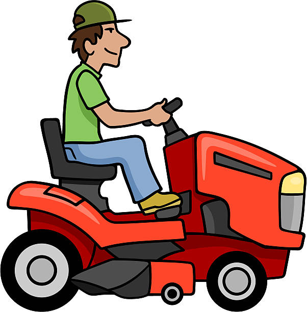 Mowing clipart.  collection of riding