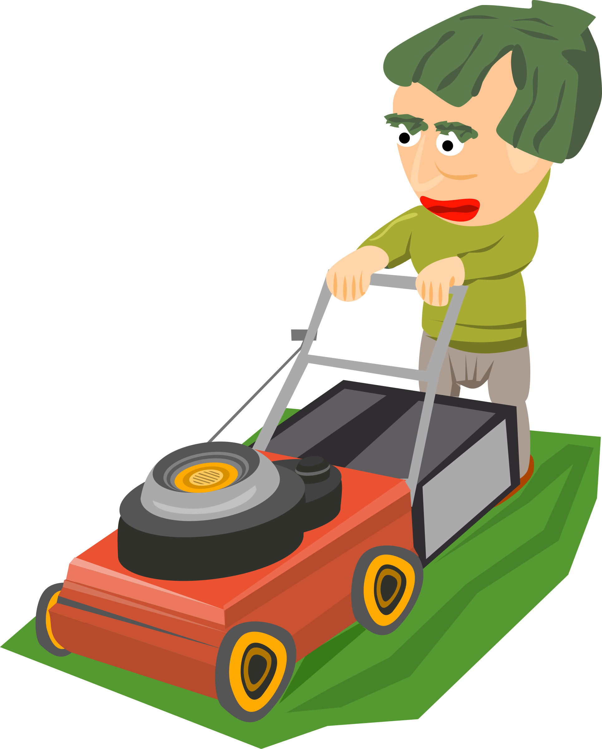 Mowing clipart. The lawn big image